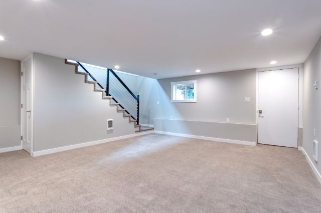 furnished basement at home